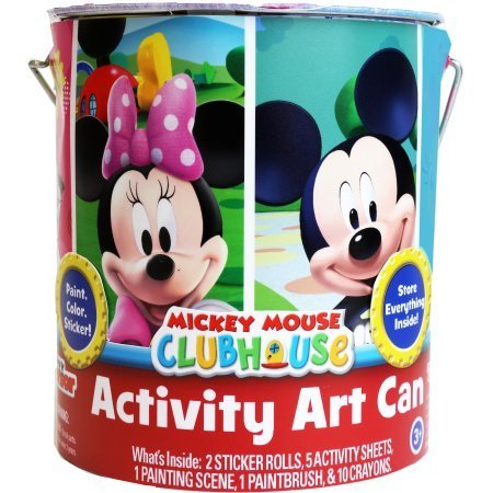Mickey Mouse and Minnie Mouse Deluxe Activity Art Can Coloring Painting Stencils Stickers by Disney Junior