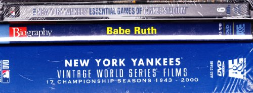 New York Yankees Ultimate 12 Disc Collection : Essential Games of Yankee Stadium , the New York Yankees Vintage World Series Films 17 Championship Seasons , Babe Ruth Biography -