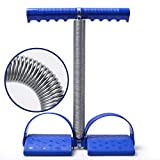 Cheap Elastic Sit Up Pull Rope Spring Tension Rope Foot Pedal Abdominal Exerciser Equipment Fitness Yoga (Blue)