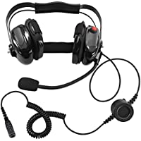 Bommeow BHDH50-BK-M9 Noise Isolating Headset for MOTOROLA MOTOTRBO XPR-6550 XPR-7550 XPR-7580 APX-4000 in Black