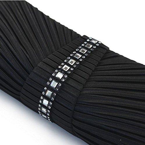 Cctel BAILIANG Del Boda La Del De Formal Black Tarde Monedero Embrague Mujeres zqzrwUxO