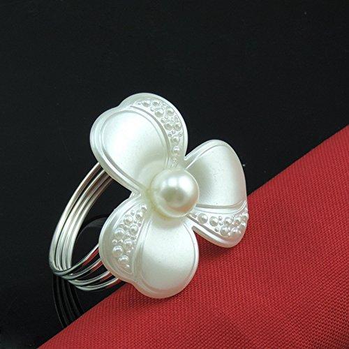 Metal Napkin Rings, 12PC Adornment Bling Napkin Holder for W