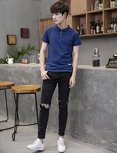 Balobo Tシャツ メンズ 半袖 ラペル ゴルフ ゴルフシャツ スポーツ カジュアル 快適通気性 ティーシャツメンズ 大きい サイズ101