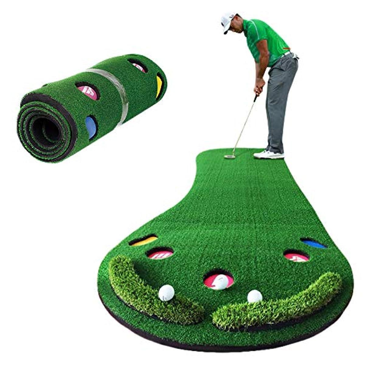 [해외] SMALY 골프 연습용 퍼터 매트 특대 사이즈 300×100CM [그린/파딘구/어프로치]