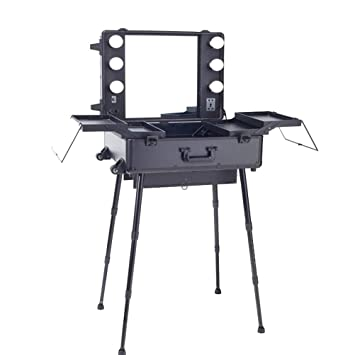 Amazon.com : JedaJeda Professional Studio Makeup Artist Case Light Station  Large Portable Dressing Table Folding Leg : Beauty