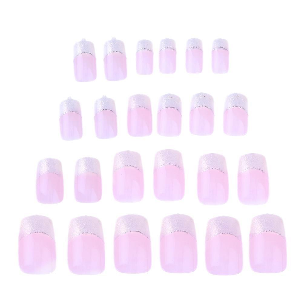 Gowind6 - Set de 24 uñas postizas pintadas en francés para manicura de uñas (JQ292): Amazon.es: Belleza