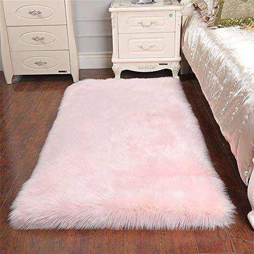 Teppich Rosa Flauschig.Sweetwill Faux Lammfell Schaffell Teppich 80 X 150 Cm Modern Wohnzimmer Teppich Flauschig Lange Haare Fell Optik Gemütliches Schaffell Bettvorleger