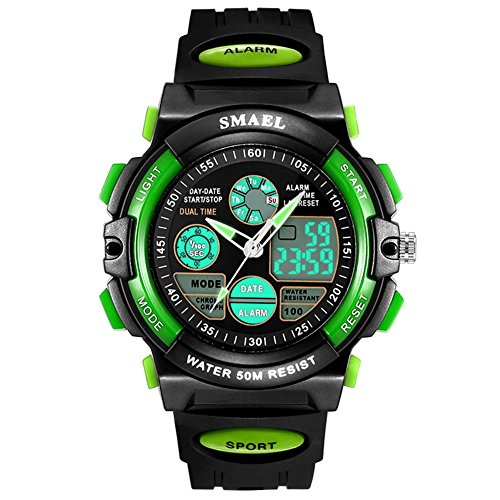 Big Face Sport Analog Digital Alarm Chronograph Boys Watches for Kids by Touhum