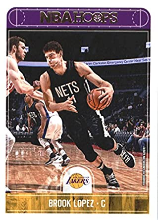 325e83d731a 2017-18 NBA Hoops  133 Brook Lopez Los Angeles Lakers Official Basketball  Card made