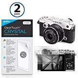 Olympus PEN-F Screen Protector, BoxWave® [ClearTouch Crystal (2-Pack)] HD Film Skin - Shields From Scratches for Olympus PEN-F | OM-D E-M1, E-M5 Mark II