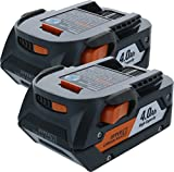 RIDGID AC840087P 18-Volt 4.0Ah Lithium-Ion Battery (2-Pack of R840087 Battery)