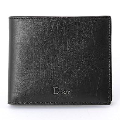 9de35752ab6b Dior Homme ディオールオム 2UFBH027 XLA 00NU ヴィンテージレザー 二つ折り財布 小銭入れなし ロゴ