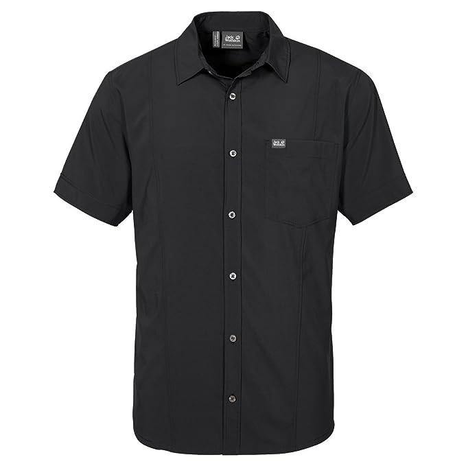 Jack Wolfskin Men's Egmont Shirt, Black, Small: Amazon.co.uk
