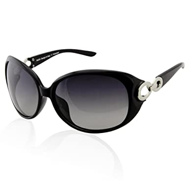 f8b558c1c49 DUCO Women s Classic Star Polarised Sunglasses 100% UV Protection 1220  (Black)