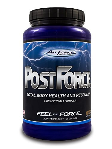 Post Force by All Force Nutrition - Delicious Milk Chocolate Whey Protein - Total Body Post Workout (Muscle Building, Joint Health, and Recovery Powder). Mixes easily with water or milk. (28 servings)