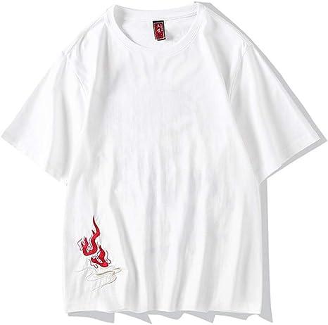 XIAOYU Estilo Chino Camiseta Bordada Sueltos Hombre de Manga Corta: Amazon.es: Deportes y aire libre