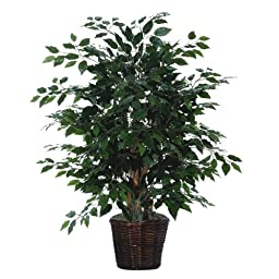 Vickerman AZTXX0140 Ficus Artificial Plant, Dark Green, 4-Feet