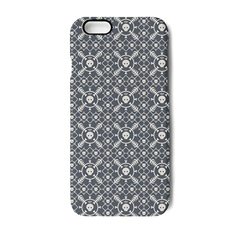 IPhone 6/IPhone 6s Case Seamless Pattern With Skulls And Original Bumper Matte TPU Soft Rubber Silicone Protective Back (Original Silicone Halloween Mask)