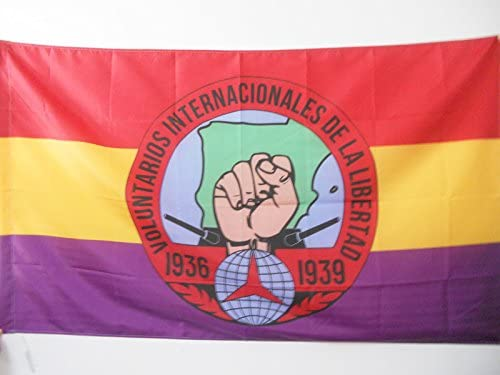 AZ FLAG Bandera de ESPAÑA Republicana Voluntarios Libertad 90x60cm para Palo - Bandera BRIGADES INTERNCIONALES Republica ESPAÑOLA 60 x 90 cm: Amazon.es: Hogar