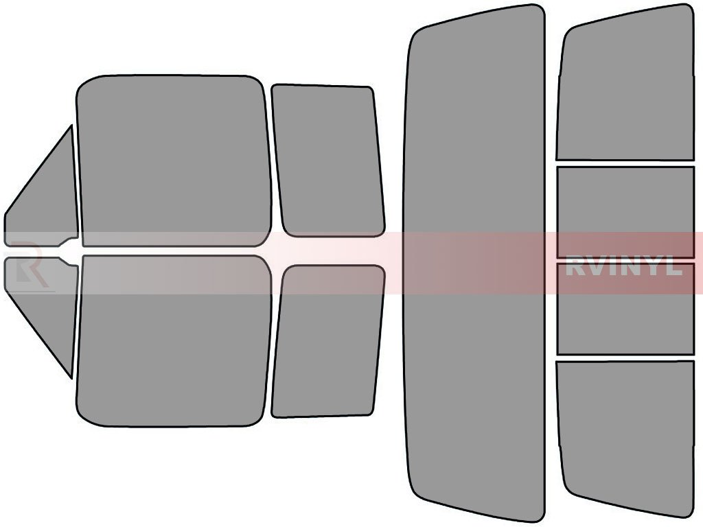 - Front Kit Rtint Window Tint Kit for Ford F-150 1992-1996 50/% 2 Door