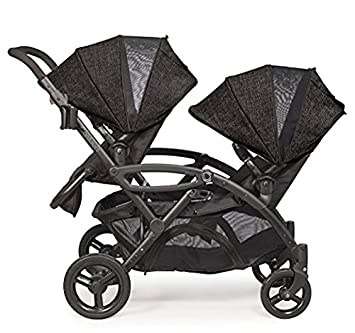 2017 Contours Option Elite Tandem Double Stroller with FREE BABY GEAR XPO Stroller Hook Carbon