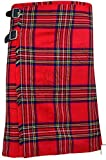 Royal Stewart Men's 5 Yard Scottish Kilts Tartan Kilt 13oz Highland Casual Kilt (36'')