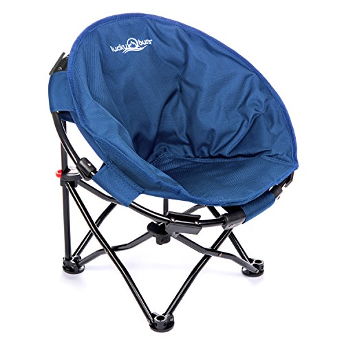 Lucky Bums Moon Camp Kids Indoor Outdoor Comfort Lightweight Durable Chair with Carrying Case