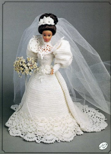 1994 Bride Doll Gown, The Gibson Girl collection of the Gay Nineties (7103) CROCHET PATTERN (Fashion 1994 Doll)
