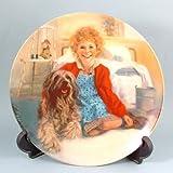 c1982 Bradford Exchange Annie collector plate Annie and Sandy