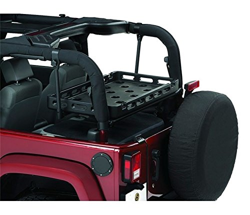 Bestop 41437-01 HighRock 4X4 Black Lower Cargo Rack Bracket for 2003-2018 Wrangler TJ & JK