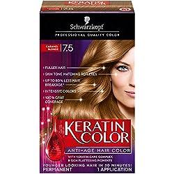 Schwarzkopf Keratin Hair Color, Caramel Blonde 7.5, 2.03 Ounce