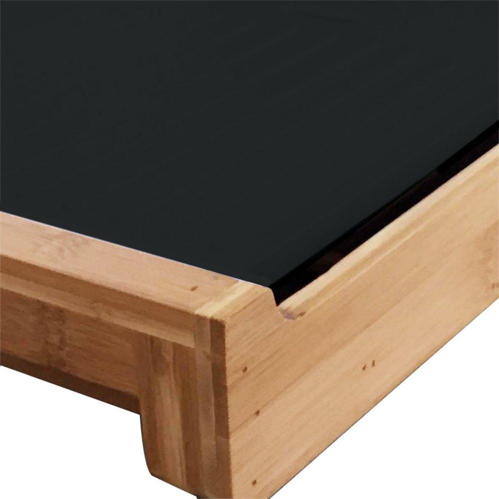 Novedad: de diseño de alta calidad plancha de cocina bratplatte mesa Barbacoa Party Grill - Barbacoa en madera/bambú diseño - de bambú negro: Amazon.es