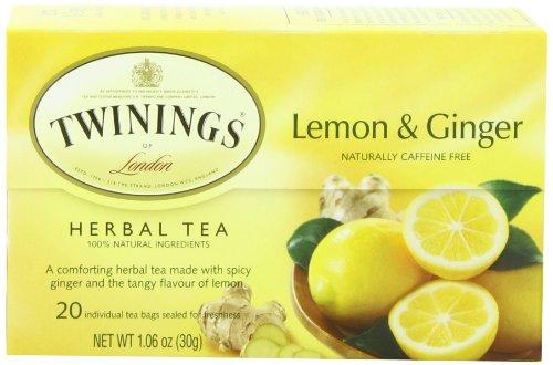 twinings th parfum citron gingembre chinois bo te de 20 sachets de th paquet de 6. Black Bedroom Furniture Sets. Home Design Ideas