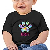 Black Baby Adopt A Dog T-Shirt 12M Soft Cozy Infant Short Sleeve Undershirts