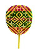 NAVA CHIANGMAI Hand Fan Bamboo Woven Thai Handmade (Many colors.)
