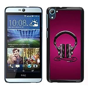 Stuss Case / Funda Carcasa protectora - Headphones Music Love Purple Black Art - HTC Desire D826