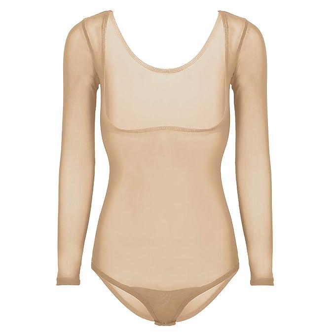 Damen Body Tanz Ballett Trikot Gymnastikanzug Bodysuit Stringbody Unterwäsche