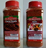 El Mexicano Brand Carne Asada & Adobo Seasoning Mix 28 Oz (Must Try) Pack of 2