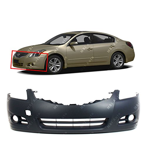 MBI AUTO – Primered, Front Bumper Cover Fascia for 2010 2011 2012 Nissan Altima Sedan 10 11 12, NI1000268