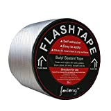 Butyl Sealant Tapes, 4'' Width x 16ft Length RV Roof Patch Seal Tape Auto Butyl Roof Repair Tape with Aluminum Foil Cover for Camping Repair and RV Sealant & Caulking