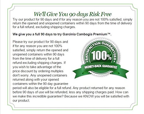 Garcinia Cambogia Premium 95% HCA - Best Natural Weight Loss, Quick Fat Burner and Appetite Suppressant - 180 Vegan Capsules, 3 Months Supply - 100% Money Back Guarantee! by Garcinia Cambogia Premium (Image #6)