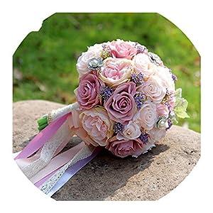 Wedding Bouquet Wedding Bouquet Boutonniere and Wrist Flower Corsage Brooch Bouquet Bridesmaid Bridal Bouquet Wedding Deco D81 70