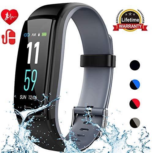 Mgaolo Fitness Tracker,Activity Health Tracker Waterproof Smart Watch Wristband with Blood Pressure Heart Rate Sleep Monitor Pedometer Step Calorie Counter for Android and iPhone (Gray)
