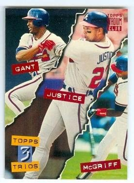 Ron Gant David Justice Fred Mcgriff Baseball Card Atlanta Braves