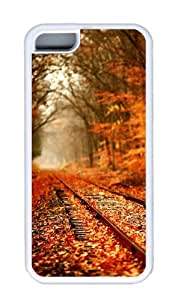 Customized Case Landscapes Rails TPU White for Apple iPhone 5C