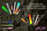 Neon Mountain Arrow Patriot Prints Cresting Wraps For Carbon Shafts 12 Pack- Arrow Cresting Stickers- 3 Size Options