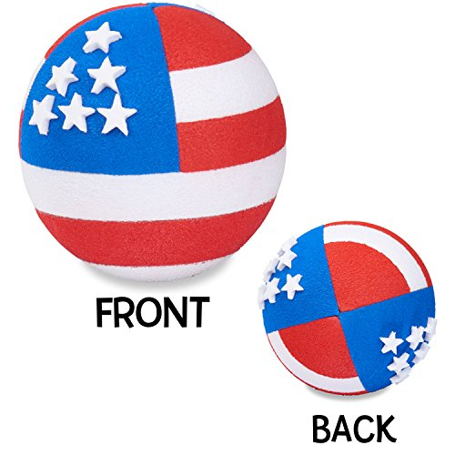 Coolballs Cool Patriotic USA American Flag (2 Sided) Car Antenna Topper - Antenna Ball - Rear View Mirror Dangler - Auto ()