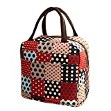 Insulated Lunch Tote,Thenlian Premium Thermal Insulated Lunch Bag with Zip Closure Men Women Adults Kids Toddler Nurses (Red)