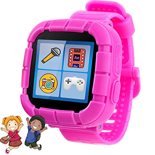 Kids Games Smart Watches  Children Wrist Smartwatch with 10 Games Analog Digital Alarm Novelty Handheld Learning Toys for Kid Back to School Age 3-10 (Pink)