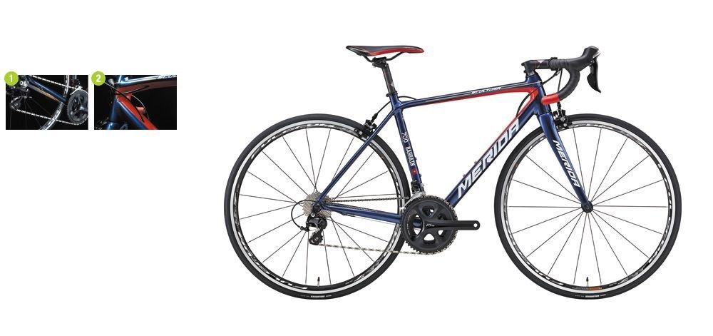 *期間限定セール* 2018 MERIDA(メリダ) SCULTURA(スクルトゥーラ)700 ダークブルー/サイズ47cm ペダルサービス ロードバイク B078Z5KG28